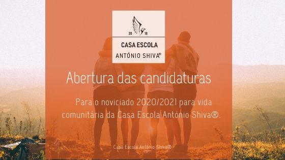 Abertura das candidaturas para noviciado 2020/2021