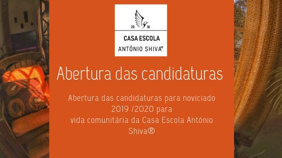 Abertura das candidaturas para noviciado 2019 /2020