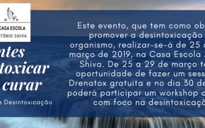 """""""Antes desintoxicar que curar"""" – Semana de Desintoxicação"""