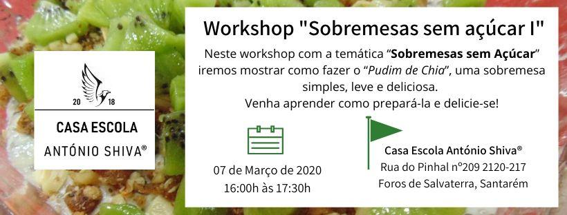 "Workshop ""Sobremesas sem Açúcar I"""