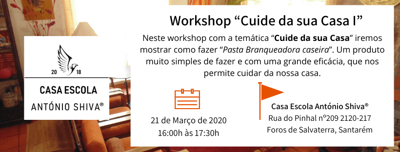 workshop pasta branqueadora